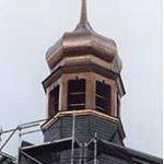 Leipziger Turm - Halle Kupferbedachung in Stehfalztechnik